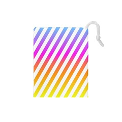 Abstract Lines Mockup Oblique Drawstring Pouch (small)