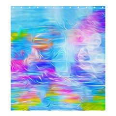 Background Drips Fluid Colorful Shower Curtain 66  X 72  (large)