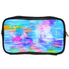 Background Drips Fluid Colorful Toiletries Bag (two Sides)