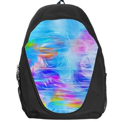 Background Drips Fluid Colorful Backpack Bag