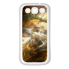 Fractal Background Color Colorful Samsung Galaxy S3 Back Case (white) by Wegoenart