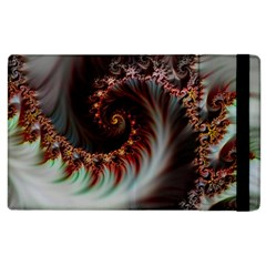 Digital Fractal Fractals Fantasy Apple Ipad 2 Flip Case by Wegoenart