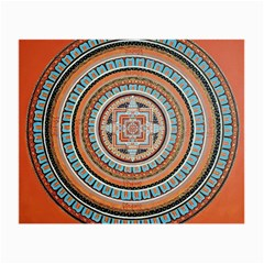 Mandala Art Painting Acrylic Small Glasses Cloth (2 Side)