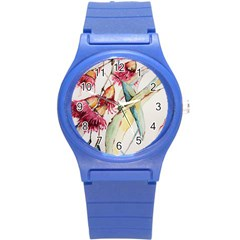 Plant Nature Flowers Foliage Round Plastic Sport Watch (s)