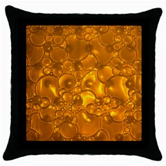 Bubbles Circles Template Texture Throw Pillow Case (black)
