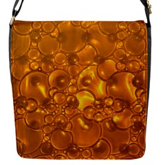 Bubbles Circles Template Texture Flap Closure Messenger Bag (s)