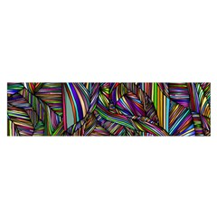 Abstract Background Satin Scarf (oblong)