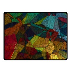 Background Color Template Abstract Double Sided Fleece Blanket (small)