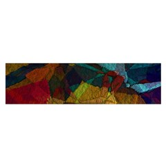 Background Color Template Abstract Satin Scarf (oblong)