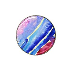 Painting Abstract Blue Pink Spots Hat Clip Ball Marker (4 Pack)