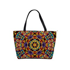 Flowers Kaleidoscope Art Pattern Classic Shoulder Handbag