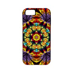 Flowers Kaleidoscope Art Pattern Apple Iphone 5 Classic Hardshell Case (pc+silicone)