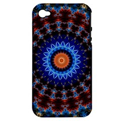 Rose Kaleidoscope Art Ornament Apple Iphone 4/4s Hardshell Case (pc+silicone)
