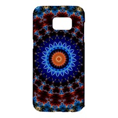 Rose Kaleidoscope Art Ornament Samsung Galaxy S7 Edge Hardshell Case
