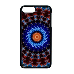 Rose Kaleidoscope Art Ornament Apple Iphone 7 Plus Seamless Case (black) by Wegoenart