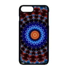 Rose Kaleidoscope Art Ornament Apple Iphone 8 Plus Seamless Case (black) by Wegoenart