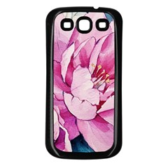 Art Painting Flowers Peonies Pink Samsung Galaxy S3 Back Case (black)