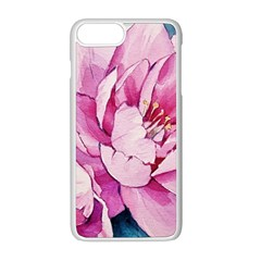 Art Painting Flowers Peonies Pink Apple Iphone 8 Plus Seamless Case (white)