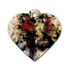 Ara Bird Parrot Animal Art Dog Tag Heart (one Side)