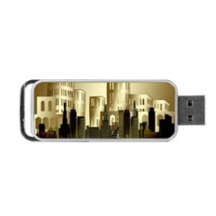 Architecture City House Portable Usb Flash (one Side)