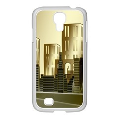 Architecture City House Samsung Galaxy S4 I9500/ I9505 Case (white)
