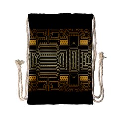 Board Digitization Circuits Drawstring Bag (small)