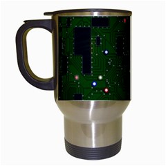 Board Conductors Circuits Travel Mugs (white) by Bejoart