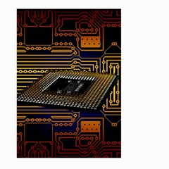 Processor Cpu Board Circuits Large Garden Flag (two Sides) by Bejoart