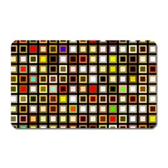 Squares Colorful Texture Modern Art Magnet (rectangular) by Bejoart