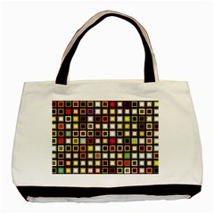Squares Colorful Texture Modern Art Basic Tote Bag