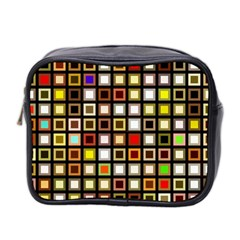Squares Colorful Texture Modern Art Mini Toiletries Bag (two Sides)