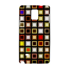 Squares Colorful Texture Modern Art Samsung Galaxy Note 4 Hardshell Case