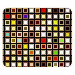 Squares Colorful Texture Modern Art Double Sided Flano Blanket (small)