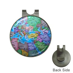Globe World Map Maps Europe Hat Clips With Golf Markers