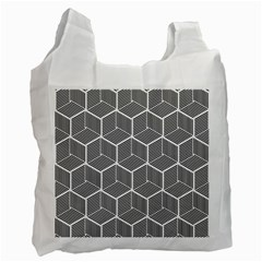 Cube Pattern Cube Seamless Repeat Recycle Bag (one Side)