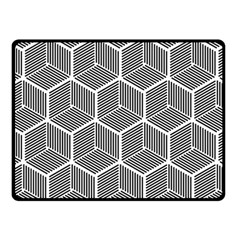 Cube Pattern Cube Seamless Repeat Fleece Blanket (small)