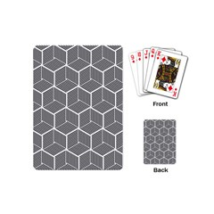 Cube Pattern Cube Seamless Repeat Playing Cards (mini) by Bejoart