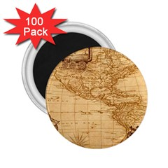 Map Discovery America Ship Train 2 25  Magnets (100 Pack)  by Bejoart