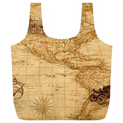 Map Discovery America Ship Train Full Print Recycle Bag (xl)