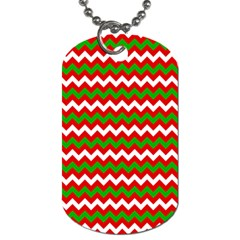 Christmas Paper Scrapbooking Pattern Dog Tag (one Side)