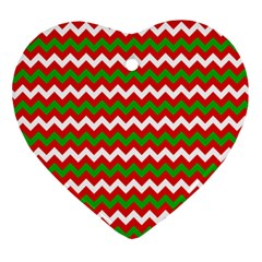 Christmas Paper Scrapbooking Pattern Heart Ornament (two Sides)