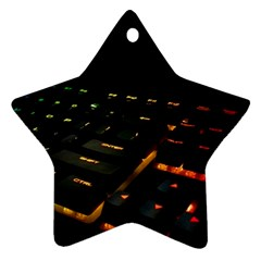 Keyboard Led Technology Ornament (star)