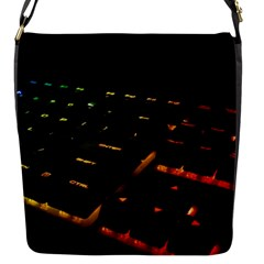 Keyboard Led Technology Flap Closure Messenger Bag (s)
