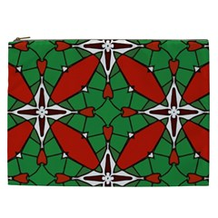 Christmas Seamless Pattern Xmas Cosmetic Bag (xxl)