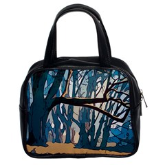 Forest Artwork Card Greeting Woods Classic Handbag (two Sides)