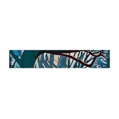 Forest Artwork Card Greeting Woods Flano Scarf (mini)