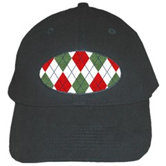 Red Green White Argyle Navy Black Cap by Wegoenart