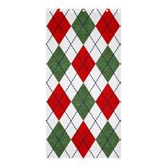 Red Green White Argyle Navy Shower Curtain 36  X 72  (stall)