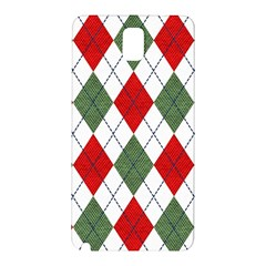 Red Green White Argyle Navy Samsung Galaxy Note 3 N9005 Hardshell Back Case
