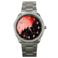Sci Fi Red Fantasy Futuristic Sport Metal Watch